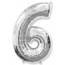 """K """"6"""" Цифр серебро / Six"""