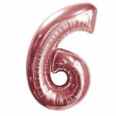 """K """"6"""" Цифра Розовое Золото / Six Pink gold"""