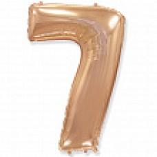 """Цифра """"7"""" розовое золото / Seven"""