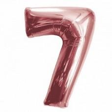 """K """"7"""" Цифра Розовое Золото / Seven Pink gold"""
