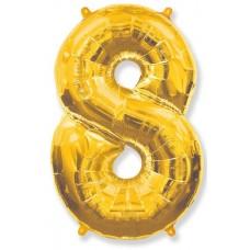"""K """"8"""" Цифра золото / Eight"""