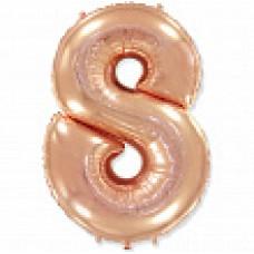 """Цифра """"8"""" розовое золото / Eight"""