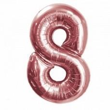 "K ""8"" Цифра Розовое Золото / Eight Pink gold"
