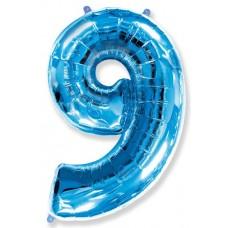 "F ""9"" Цифра синий / Nine"