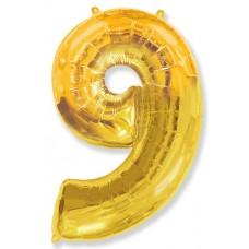"""K """"9"""" Цифра золото / Nine"""