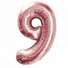 """K """"9"""" Цифра Розовое Золото / Nine Pink gold"""