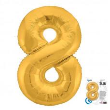"""Цифра """"8"""" Золото Slim в упаковке"""