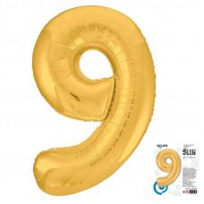 """Цифра """"9"""" Золото Slim в упаковке"""
