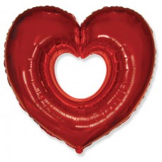 Сердце Вырубка (красное) / Shape heart