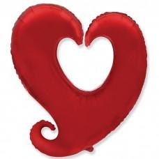 Сердце витое Красный / Heart shape Y red