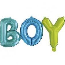 Буквы B-O-Y 35 см, под воздух
