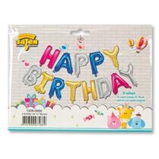 Буквы Happy Birthday 35 см, под воздух