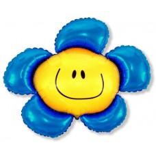 Цветочек (солнечная улыбка) синий / Flower