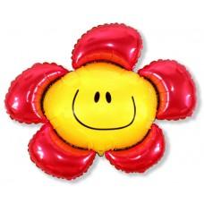 Цветочек (солнечная улыбка) красный / Flower