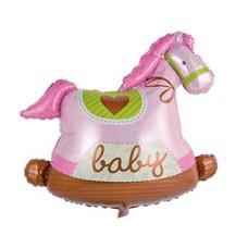 Качалка лошадка розовая Фигура