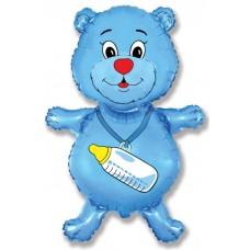 Медвежонок мальчик (синий) / Bear boy