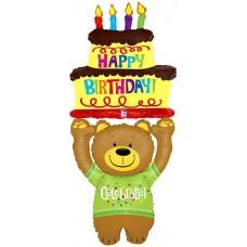 Медведь С днем рождения / Bear Happy Birthday