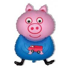 Поросенок с машинкой / Pig blue