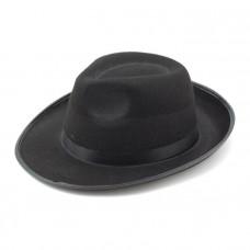 """Шляпа """"Гангстер"""" Черная с черной лентой"""