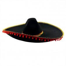 "Шляпа ""Сомбреро"" Черная"