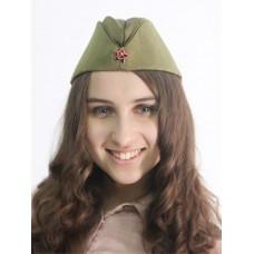 Пилотка солдатская Советской армии со звездой