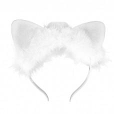 """Ободок """"Ушки кошки"""" Белый с подсветкой"""