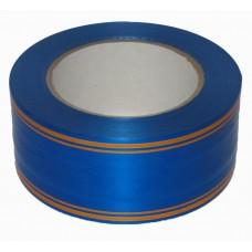 Лента Синяя с Золотой полоской