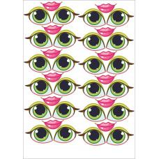 Глаза Женские Наклейка