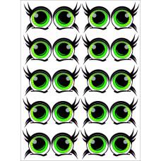 Глаза Детские (Зелёные) Наклейка  Series
