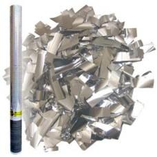 Серебряное конфетти Пневмохлопушка, 60см