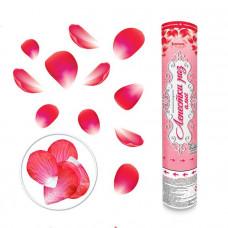 Лепестки роз алые, Пневмохлопушка 30см