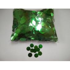 Конфетти фольгированные Круги, Зеленый