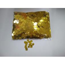 Конфетти фольгированные квадраты Золото 5мм 100г.