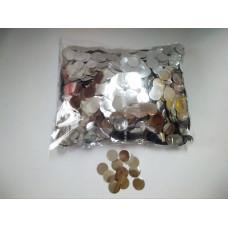 Конфетти фольгированные Круги, Серебро