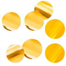 Конфетти фольгированные Круги  Золото 4см (500гр)