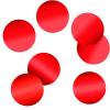 Конфетти фольгированные Круги Красные 4см (500г.)
