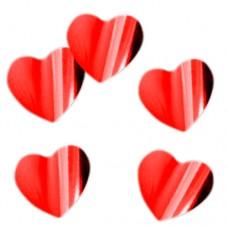 """Конфетти """"Сердца красные"""" фольгированные"""
