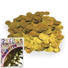 Конфетти 100гр 2см фольгированное Круги золото