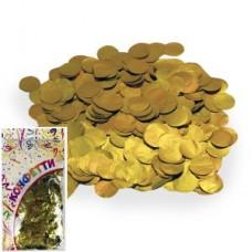 Конфетти 300гр 2см фольгированное Круги золото