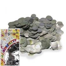 Конфетти 300гр 2см фольгированное Круги серебро