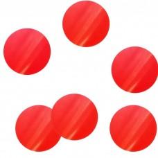 """Конфетти """"Круги красные"""" бумажные невоспламеняющиеся"""
