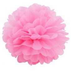 Помпон бумажный розовый Series