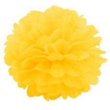 Помпон бумажный ярко-желтый Series