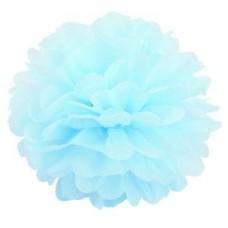 Помпон бумажный небесно-голубой Series