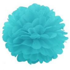 Помпон бумажный голубой Series
