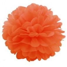 Помпон бумажный оранжевый Series