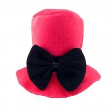 """Шляпа """"Цилиндр. Бант"""" Пурпурная"""