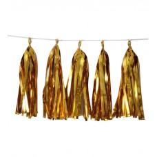 Тассел Гирлянда фольгированная Золото, листы